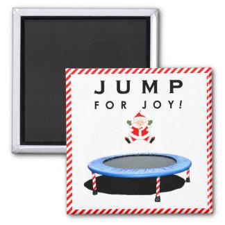 trampoline holidays magnet