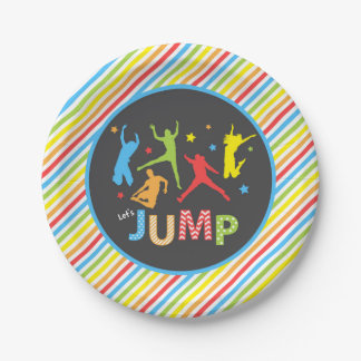 trampoline paper plates / jump paper plates 7 inch paper plate