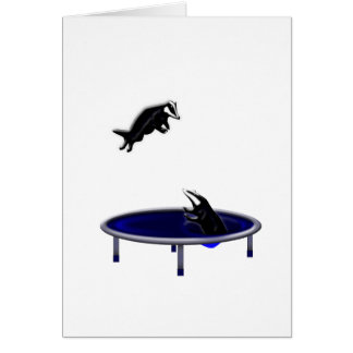 trampolining badgers card