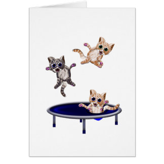 trampolining pussys card