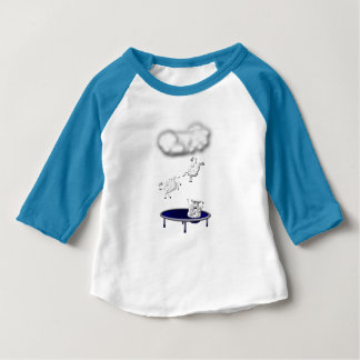 trampolining sheep or how clouds are made baby T-Shirt