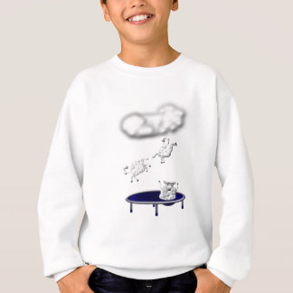 trampolining sheep or how clouds are made sweatshirt