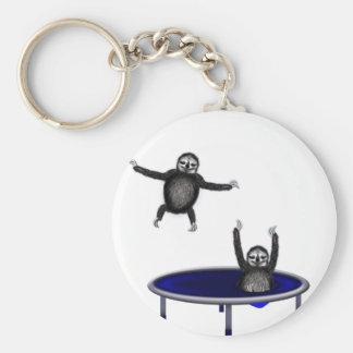 trampolining sloths keychain
