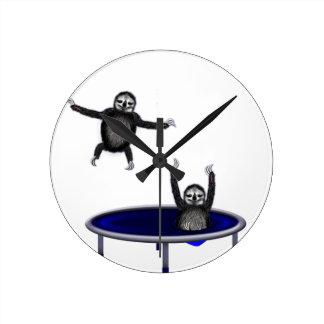 trampolining sloths round clock