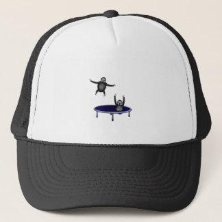 trampolining sloths trucker hat