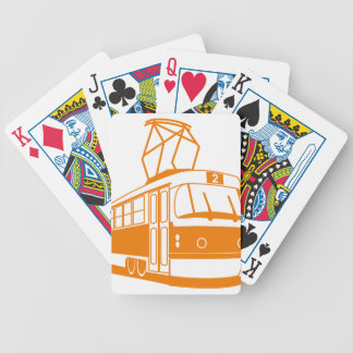 Tramway transportation electric bicycle playing cards