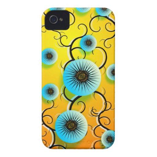 Trance Flowers Blackberry Case