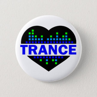 Trance Heart design 2 Inch Round Button
