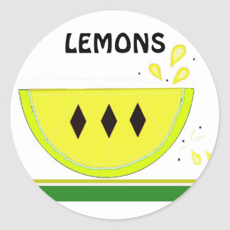Tranche de citron sticker rond