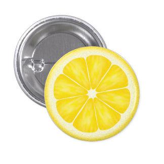 Tranche jaune d'agrumes de citron macaron rond 2,50 cm