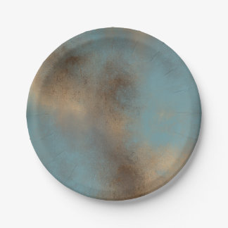 Tranquil and Peaceful Palette | Small Paper Plate 7 Inch Paper Plate
