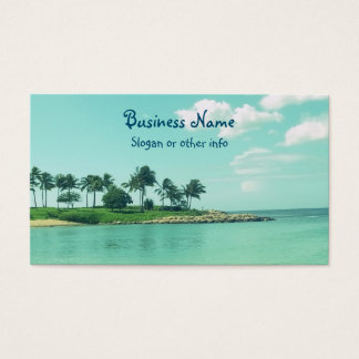 Tranquil and Serene Turquoise Beach in Hawaii Business Card