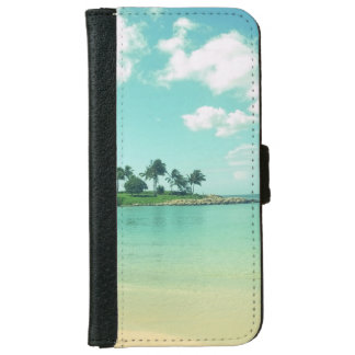 Tranquil and Serene Turquoise Beach in Hawaii iPhone 6 Wallet Case