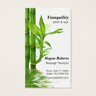 Tranquil Bamboos Spa Skin Care Massage Salon Business Card