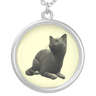 Tranquil Black Cat Necklace