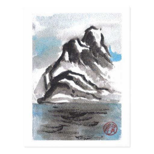 Tranquil Blue Mountain Landscape Postcard