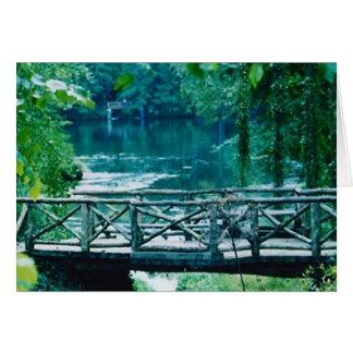 tranquil bridge card
