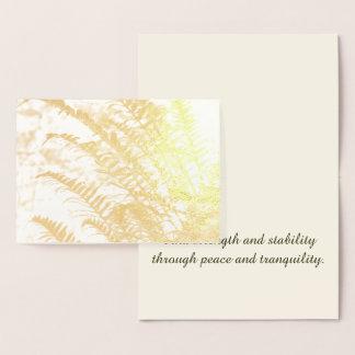 Tranquil Golden Fern Foil Card