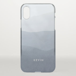 Tranquil Gray & White Gradation Modern Design iPhone X Case
