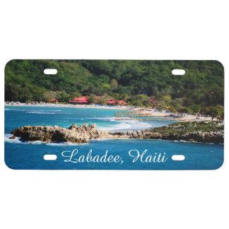Tranquil Island Paradise Labadee Haiti License Plate