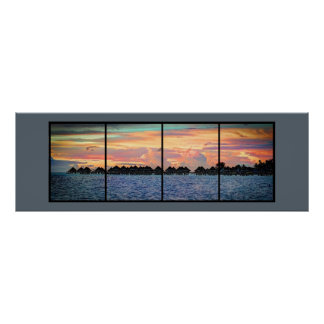 Tranquil Island Sunset Poster