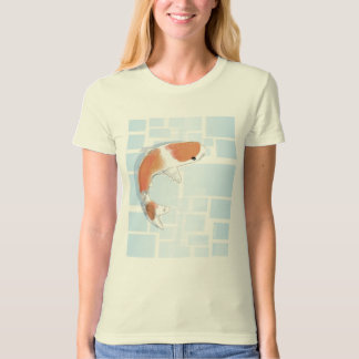 Tranquil Koi Fish in BlueTee T-Shirt