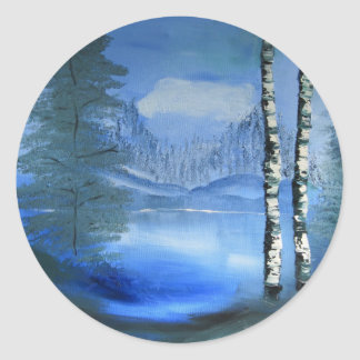 Tranquil Lake Stickers
