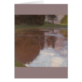 Tranquil Pond Gustav Klimt Card