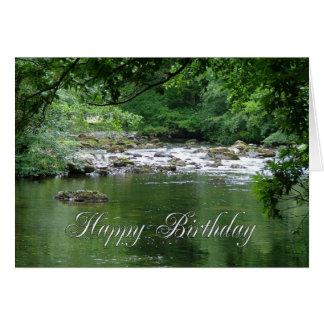 Tranquil river birthday card