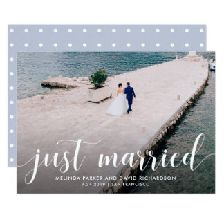 Tranquil Seas   Just Married Photo Announcement