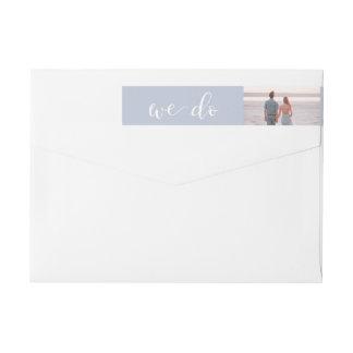 Tranquil Seas | Photo Wedding Wraparound Return Address Label