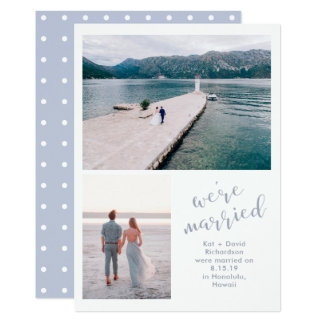 Tranquil Seas   Two Photo Marriage Announcement