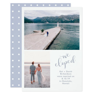 Tranquil Seas   Two Photo We Eloped Announcement
