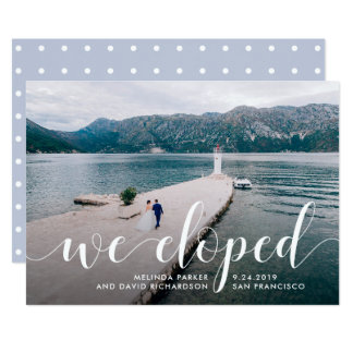 Tranquil Seas   We Eloped Photo Announcement