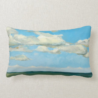 Tranquil Sky Lumbar Throw Pillow