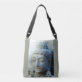 tranquil stone  Buddha face Crossbody Bag
