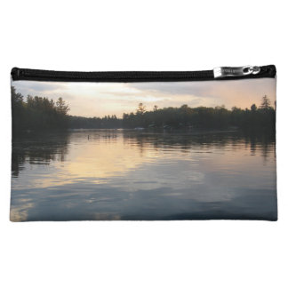 Tranquil sunset cosmetics bags
