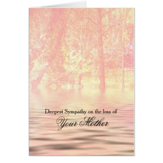 Tranquil Trees and Water Sympathy Card for Mother