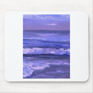 Tranquility 2 Purple Sea Waves Art Ocean Decor Mouse Pad