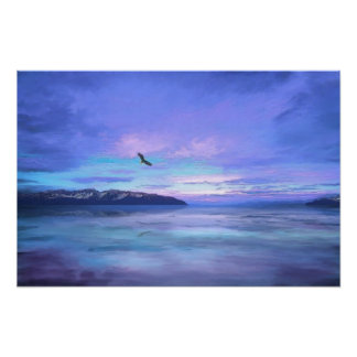 Tranquility At Dawn Poster