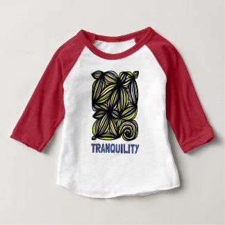 """Tranquility"" Baby 3/4 Raglan T-Shirt"