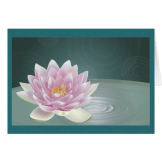 Tranquility blank greeting card