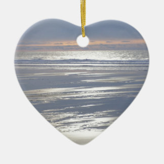TRANQUILITY CERAMIC HEART ORNAMENT