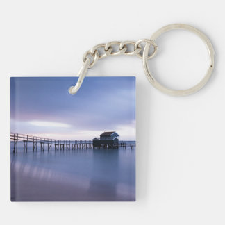 Tranquility Double-Sided Square Acrylic Keychain