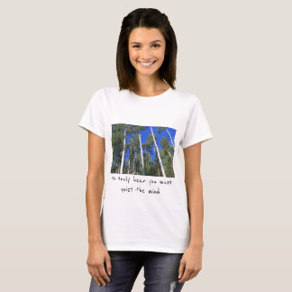 Tranquility Shirt, white aspen with calming quote T-Shirt