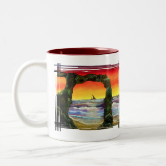 Tranquility Two-Tone Coffee Mug