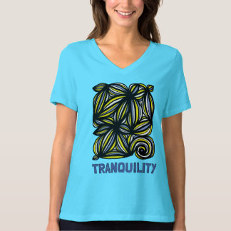 """""""Tranquility"""" Women's Relaxed Fit V-Neck T-Shirt"""