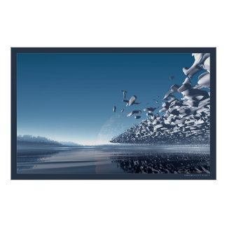Tranquillity Blue I Poster