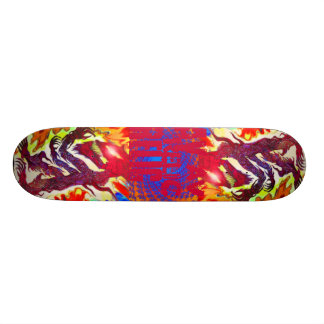 Tranquillity Peace Wolf Skateboard