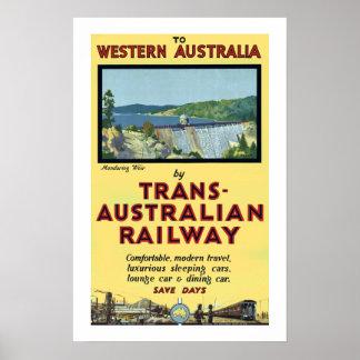 Trans Australian Railway Poster